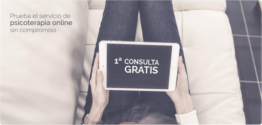 Prueba el servicio de psicoterapia online, sin compromiso. Primera consulta gratis.
